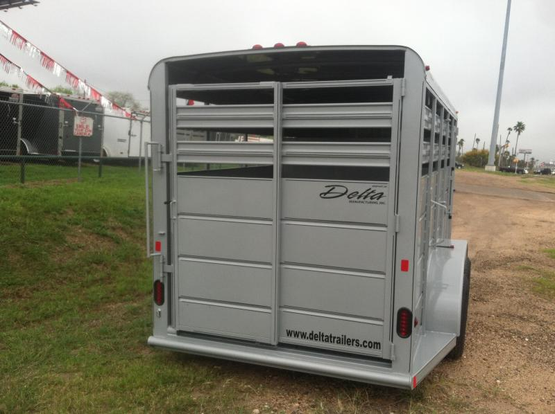 2017 Delta Manufacturing 6X16 CATTLE Stock / Stock Combo Trailer