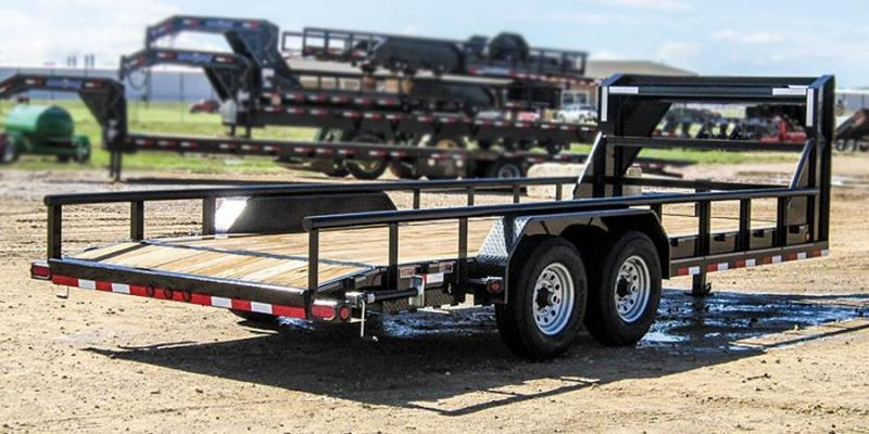 2017 LOAD TRAIL 83 X 20 HEAVY DUTY PIPE TOP