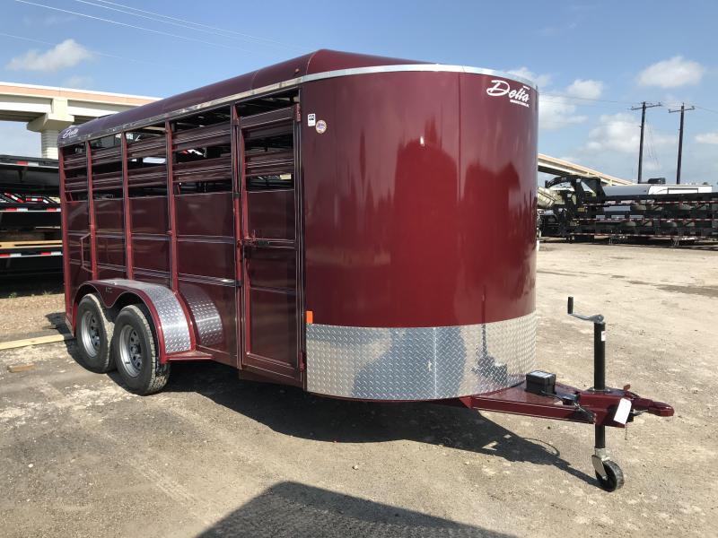 2019 Delta Manufacturing 6 x 16 Livestock Trailer