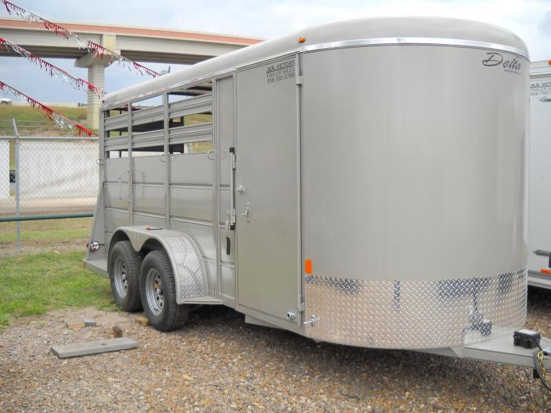 2017 Delta Manufacturing 3 HORSE Stock / Stock Combo Trailer