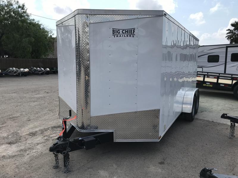 2019 LARK 7 X 16 ENCLOSED CARGO TRAILER