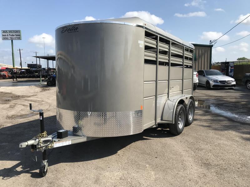 2019 Delta Manufacturing 6 x 14 Livestock Trailer