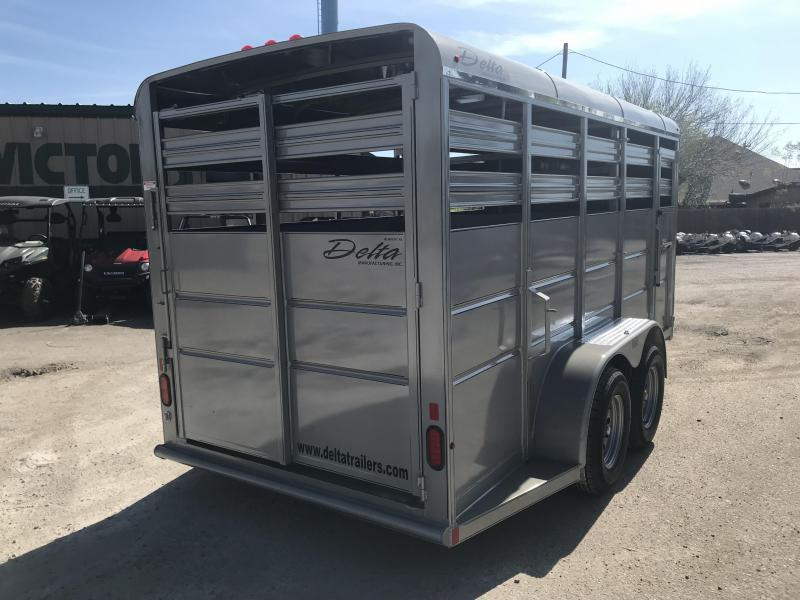 2019 DELTA 6' X 16' 500 ES CATTLE TRAILER