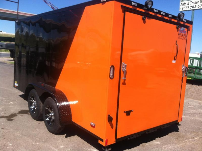 2019 Cargo Mate 7X14 CUSTOM Motorcycle Trailer