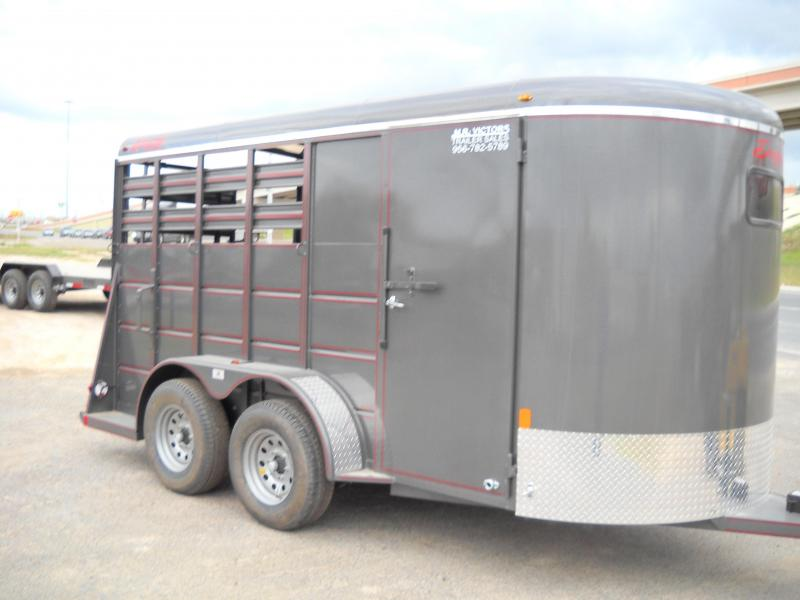 2017 Delta Manufacturing 2 HORSE Stock / Stock Combo Trailer