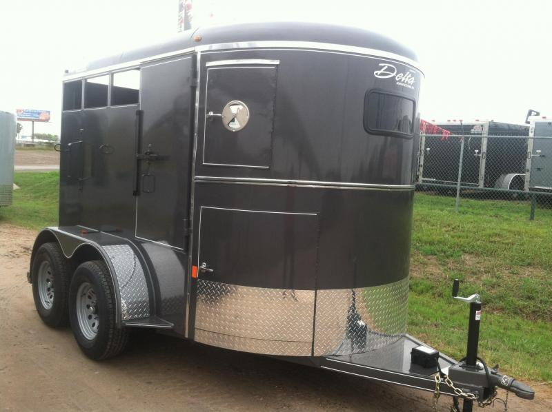 2017 Delta Manufacturing 2-HORSE Stock / Stock Combo Trailer