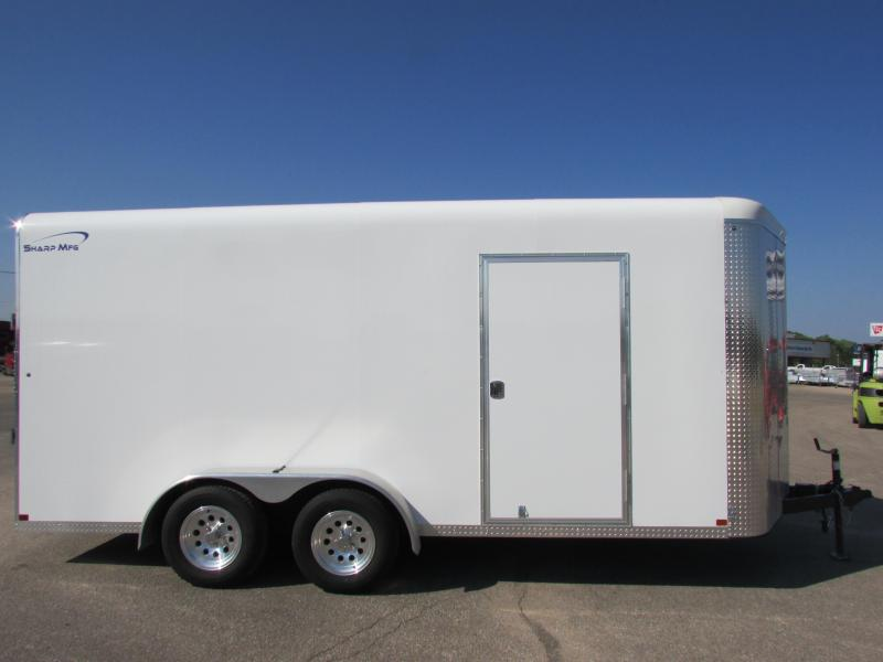 2016 Sharp 7 X 16 Enclosed Cargo Trailer