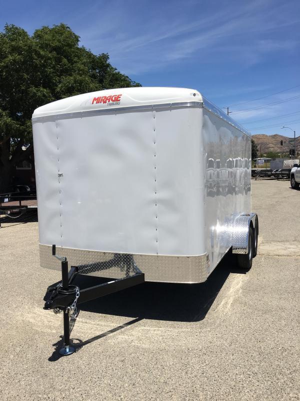 2018 Mirage Trailers XPO 7 X 16 TA2 Enclosed Cargo Trailer
