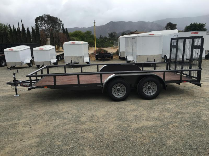 2018 Playcraft 82x14 Pipetop Utility Trailer
