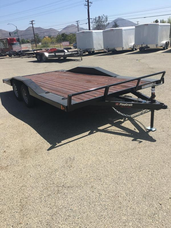 2019 Playcraft Champ 82x16 Car / Racing Trailer DRIVE OVER FENDERS