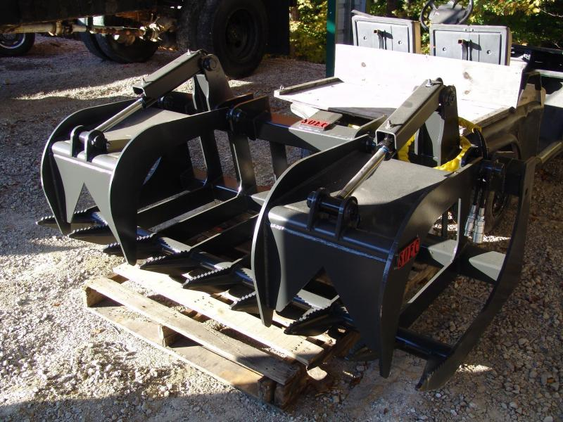 "SOEC 72"" HD Root Grapple Flat Faced Couplers"