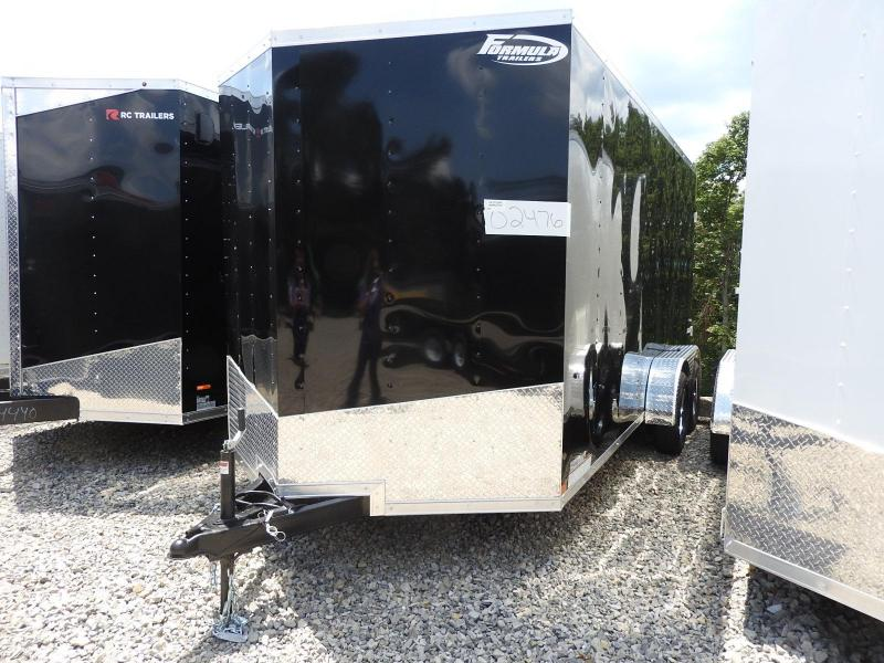 """2020 Formula Trailers Conquest 7x16 12"""" Extra Height Enclosed Cargo Trailer"""