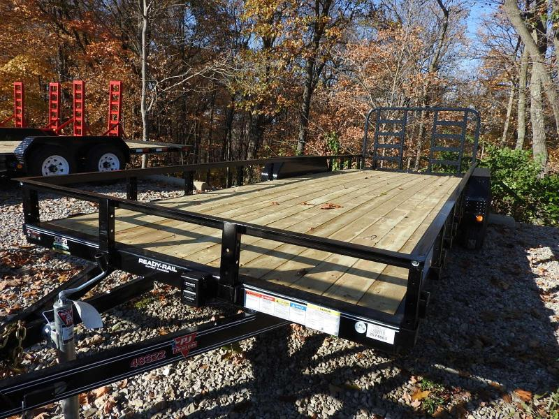 "2020 PJ UL 83"" x 22' 9899 GVW w/ Heavy Duty Ramp Gate Utility Trailer"