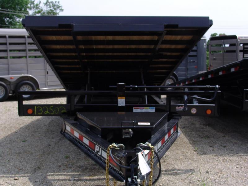 "2020 PJ T8 22' x 96"" Deckover Tilt Flatbed Trailer w/ Winch Plate"