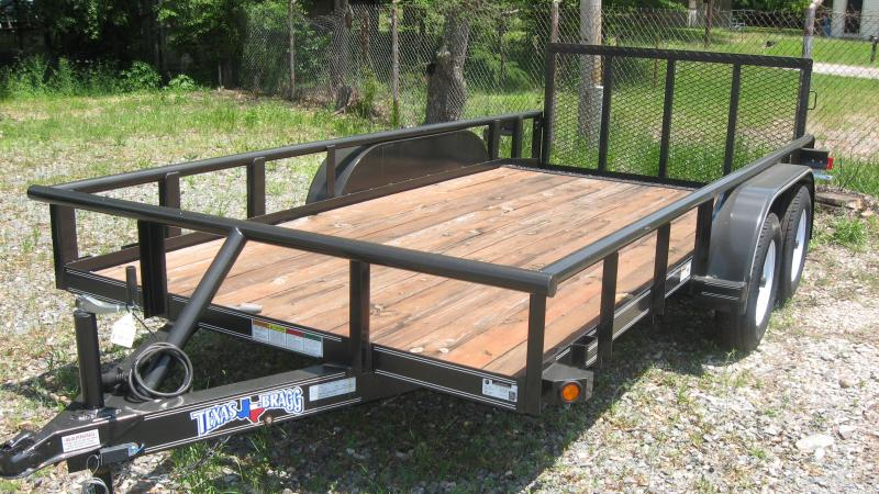 2017 Texas Bragg Trailers 6 x 14 (77 wide) Pipe top Dove Tail Utility Trailer