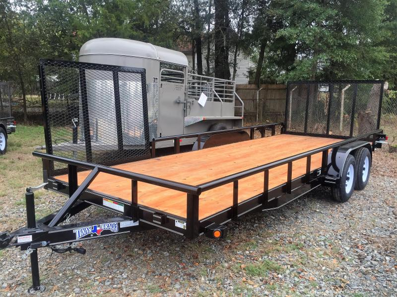 "2017 Texas Bragg Trailers 20' X 83"" Pipe Top Utility Trailer"