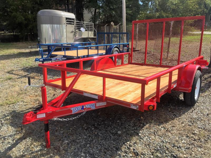 "2017 Texas Bragg Trailers 6 X 10 (77"" wide) Pipe Top Utility Trailer"