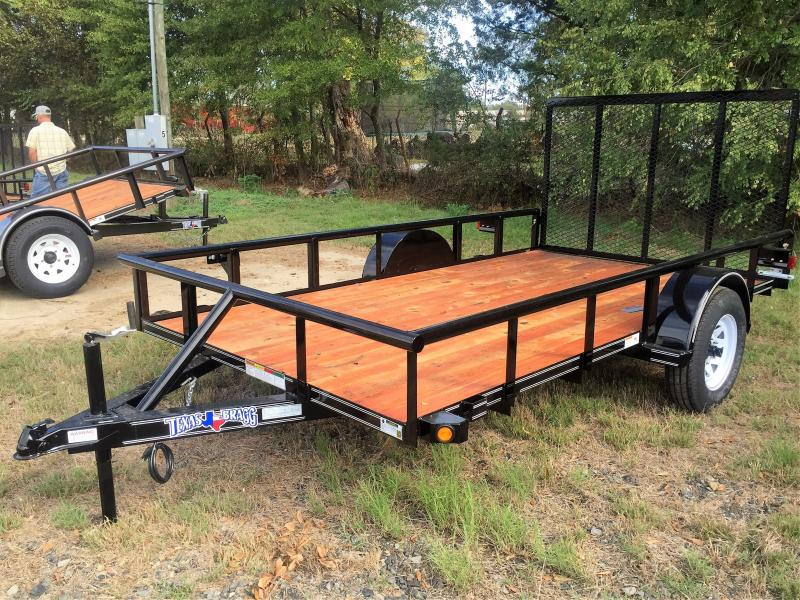 "2017 Texas Bragg Trailers 6 X 12 (77"" wide) Pipe Top Utility Trailer"