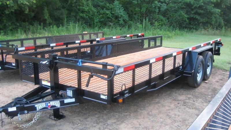 2019 Texas Bragg Trailers 18 BIG SQUARE TUBING TOP Utility Trailer