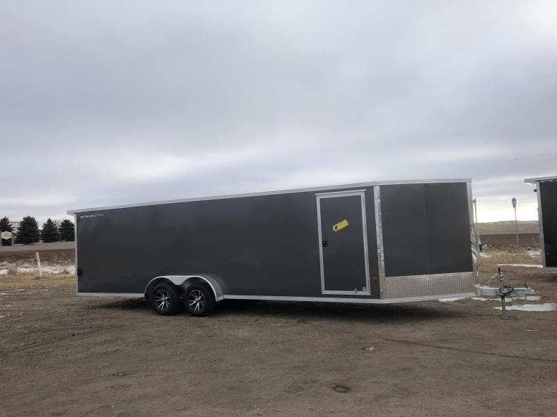 2019 Alcom-Stealth 7X24(5 VNOSE) 7X29 Snowmobile Trailer