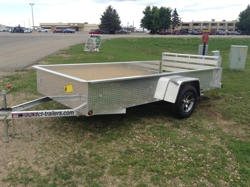 "NEW DCT-Trailers 17"" Sided Aluminum Trailer A612SE"