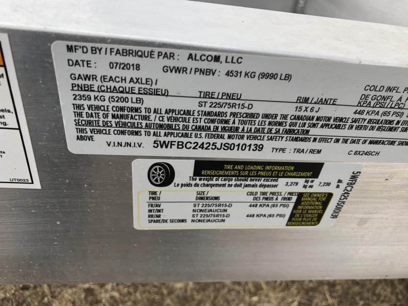 2019 Alcom-Stealth 7X16 EXTRA HEIGHT ALL ALUMINUM CARGO TRAILER Enclosed Cargo Trailer