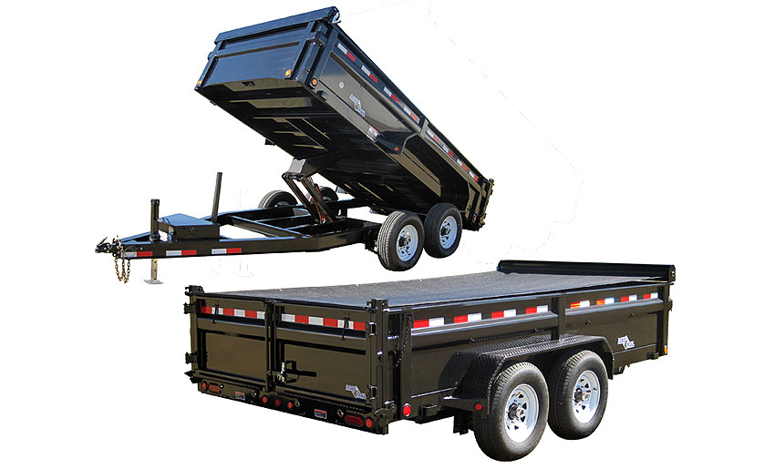 "2014 Load Trail 83"" x 12' Low Pro Tandem Axle Dump (with scissor lift)"
