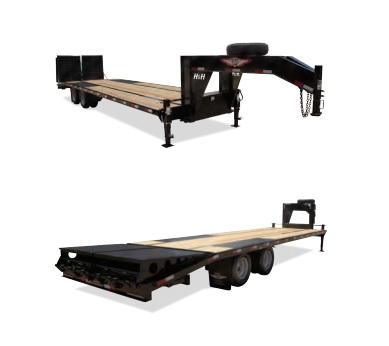 2019 H and H Trailer 25+5 19LB 20K GNLP DECKOVER SUPER DLX