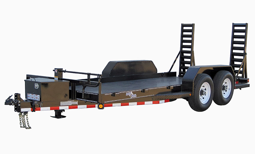 "2017 Load Trail 80"" X 14' Tandem Axle Bobcat DPF DP Runing Boards Front Tool Box Fold Up Ramps"