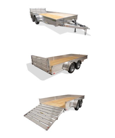 2018 H and H Trailer 8X16 STEEL SOLID SIDE TANDEM 7K
