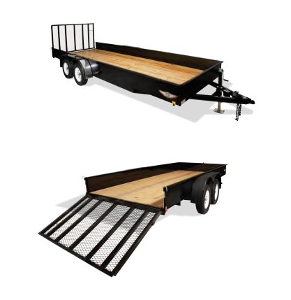 2019 H and H Trailer 8X16 STEEL SOLID SIDE TANDEM 7K