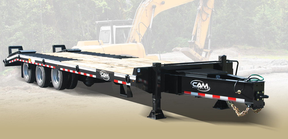 2019 Cam Superline 25 Ton Deckover Heavy Duty 8.5 x 29 + 5