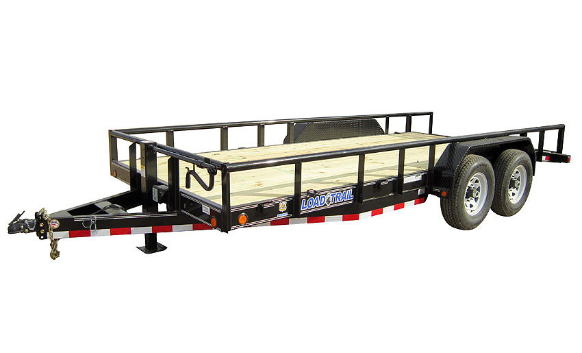 "2017 Load Trail 83"" X 18' Tandem Carhauler w/6"" Channel Frame & Pipe Top"