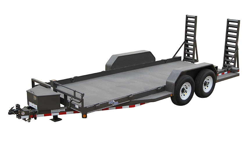 "2016 Load Trail 80"" X 16' Tandem Axle Bobcat DPF DP Runing Boards Front Tool Box Fold Up Ramps"