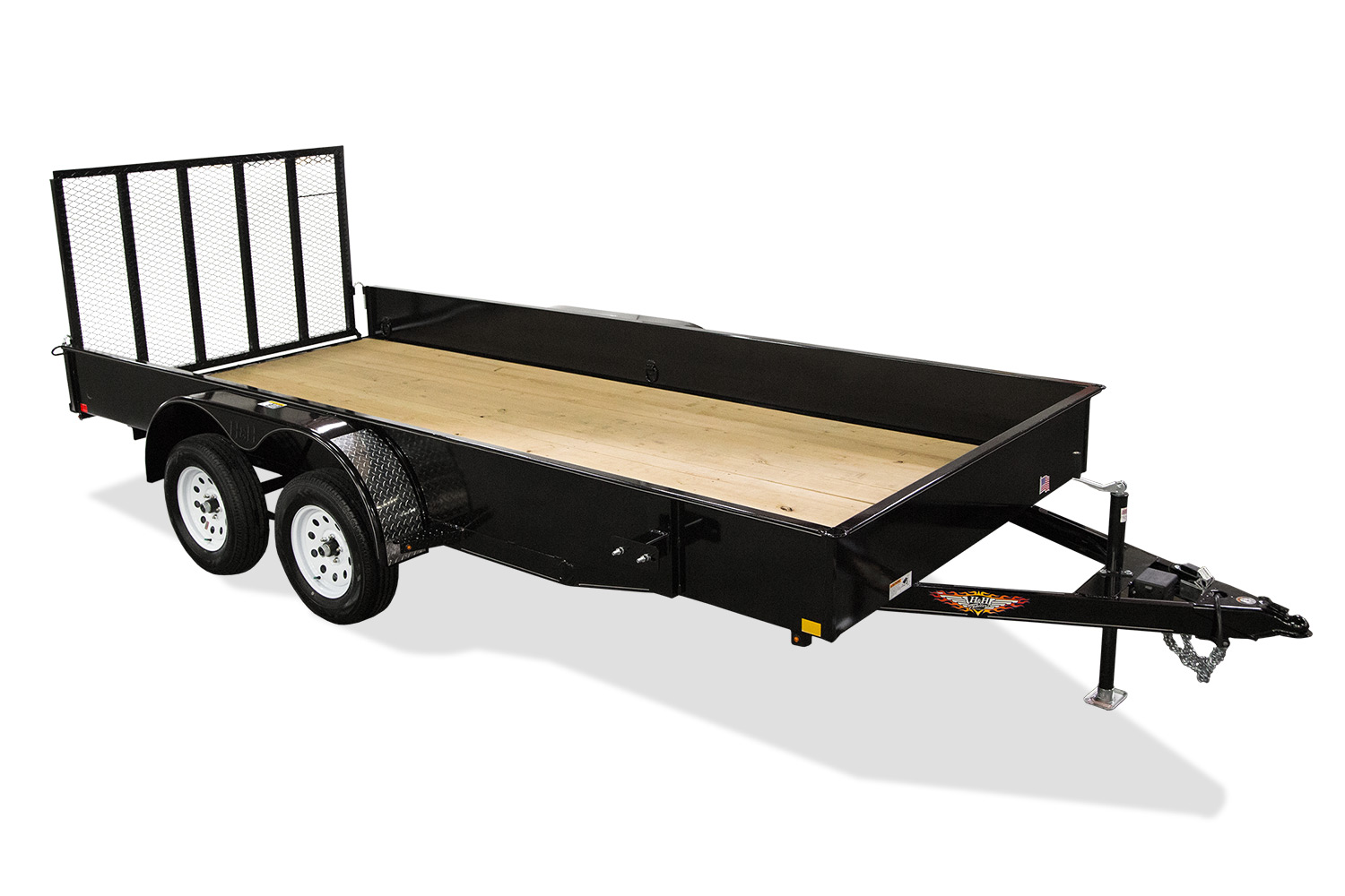 2019 H and H Trailer 8.5X18 STEEL SOLID SIDE TANDEM 7K