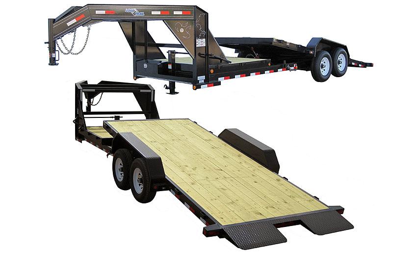 "2014 Load Trail 81.5"" x 22' Gooseneck Tilt Deck 2-7000 lb Tors. 2 Brakes w/Gravity"