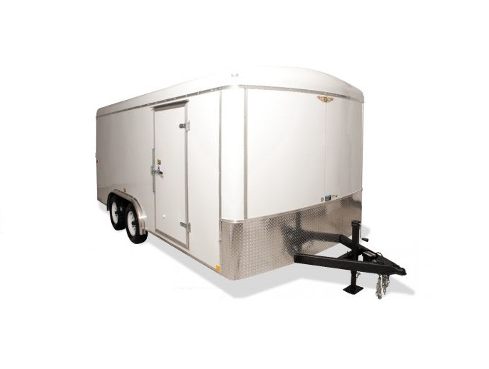 2018 H and H Trailer 8X16 TANDEM RND TOP CA VNOSE 10K CARGO