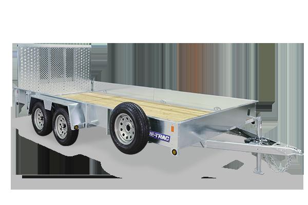 2017 Sure-Trac 7 x 16 Galvanized High Side, Tandem, 7K