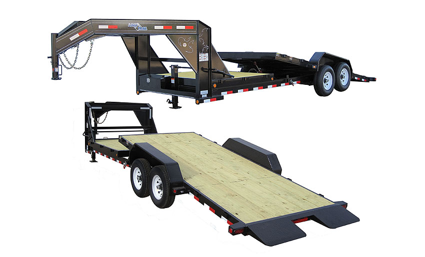 "2016 Load Trail 102"" x 24' Gooseneck Tilt Deck 2-7000 lb Tors. 2 Brakes w/Power"