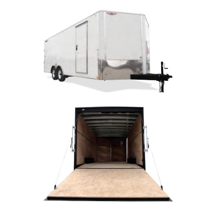 2019 H and H Trailer 101X24 HH F-TOP CARHAUL VNOSE 10K CARGO