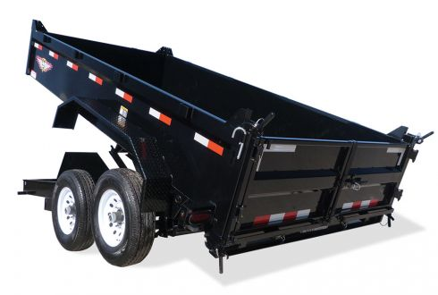2018 H and H Trailer 83X16 DBW DUMP BOX 14K
