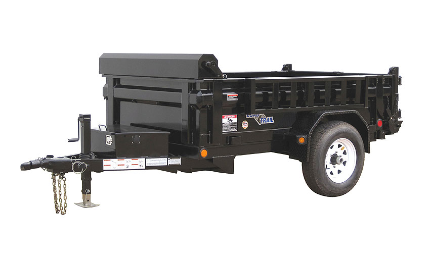2019 5x8 SA Dump Load Trail - 3-Way Gate - Tarp Kit (GVW:  5080)
