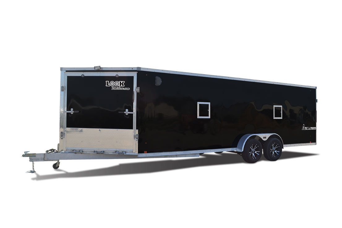 2018 Look Trailers Avalanche Bullnose Flat Top Snowmobile Trailer