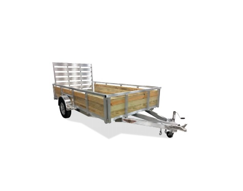 2019 H and H Trailer 5X8 WOOD-SIDE ALUM 3K