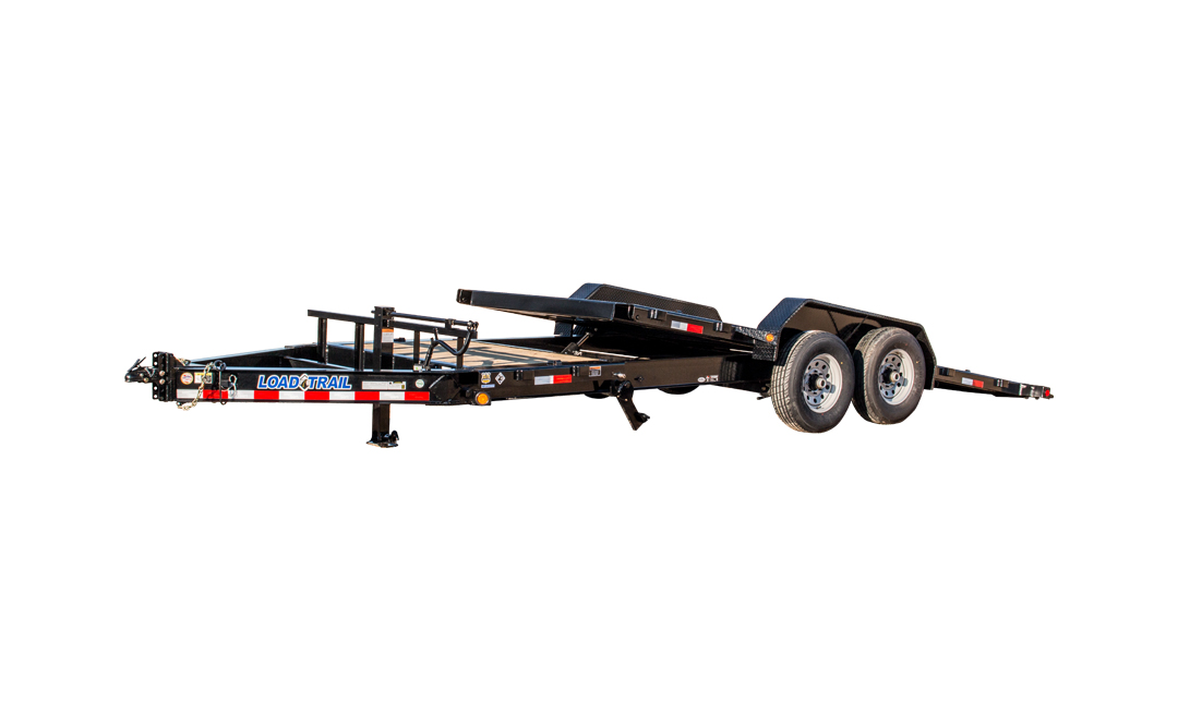 "2018 Load Trail 102"" X 22' Tandem Axle Tilt Deck Equipment Trailer"