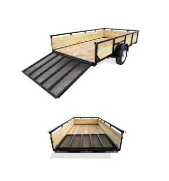 2019 H and H Trailer 8X10 STEEL WOOD SIDE 3.5K