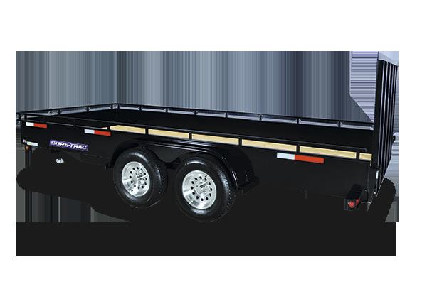 2017 Sure-Trac 7 x 14 Utility Angle High Side 7K Black