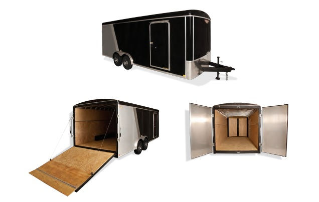 2019 H and H Trailer 7X16 TANDEM RND TOP TL RNDNOSE 14K CARGO