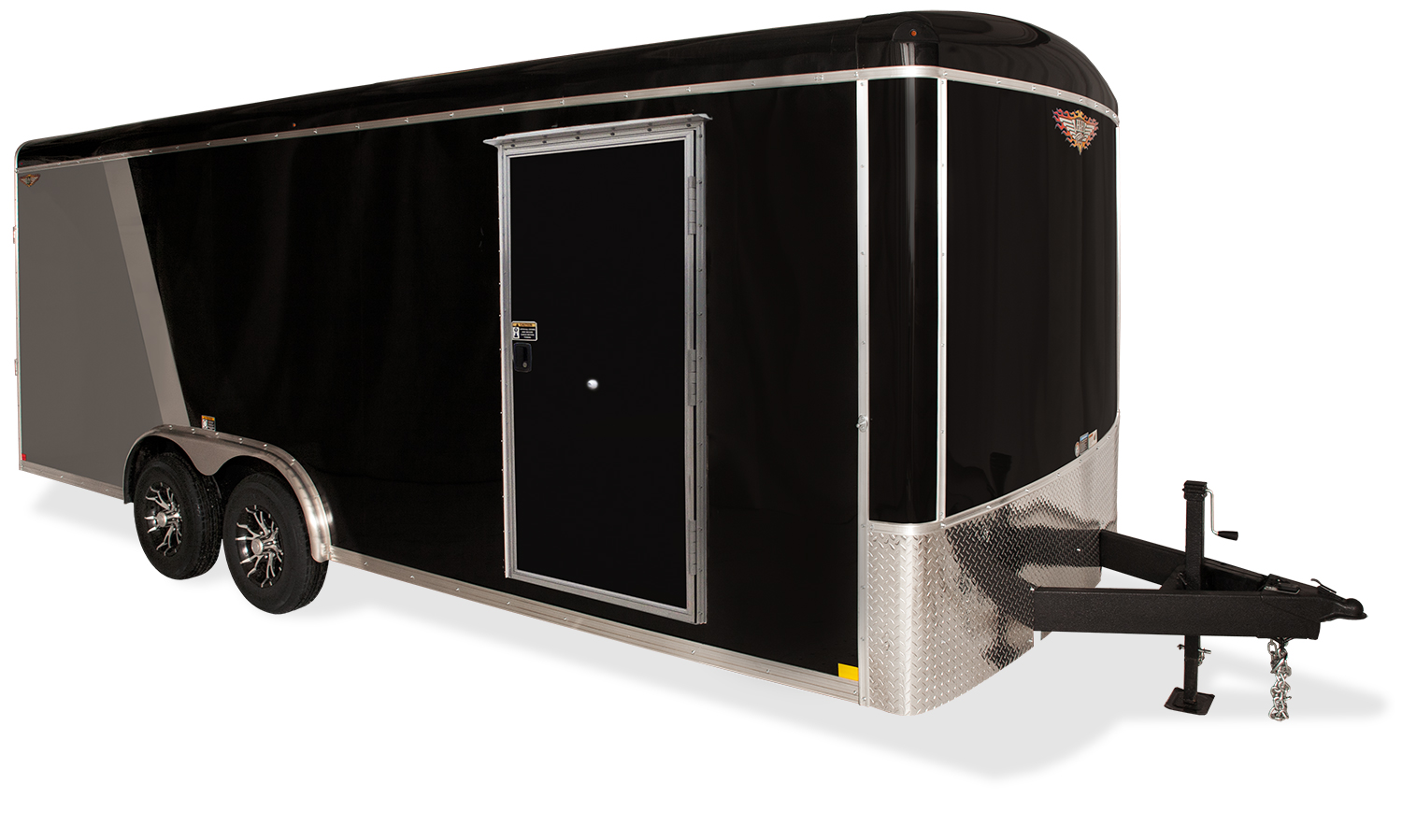 2019 H and H Trailer 8X20 TANDEM RND TOP TL VNOSE 14K CARGO