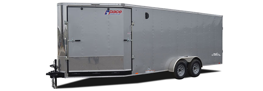 2017 Pace American Backcountry 7x23 Flat Top Snow/ Atv Trailer Snowmobile Trailer